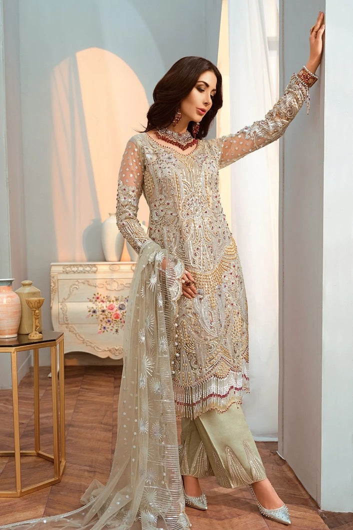 Shamrock Maryum & Maria Premium Chiffon Collection 2020 – SF-08-Online Pakistani designer dress Anarkali Suits Party Werar Indian Dresses Pakistani Dresses