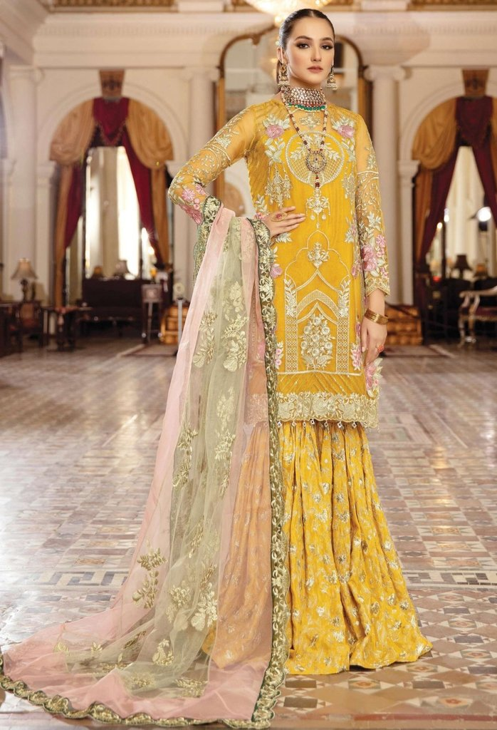 Imrozia Premium-  Regence 2021, I-125 RAYONNER, Yellow : Buy Imrozia Premium Pakistani clothing brand at our Online store. Lebaasonline Has all the latest Women`s Clothing Collection of Salwar Kameez, Indian & Pakistani  Bridal and Wedding Party attire Collection. Shop Imrozia ORIGINAL DESIGNER DRESSES IN THE UK ONLINE