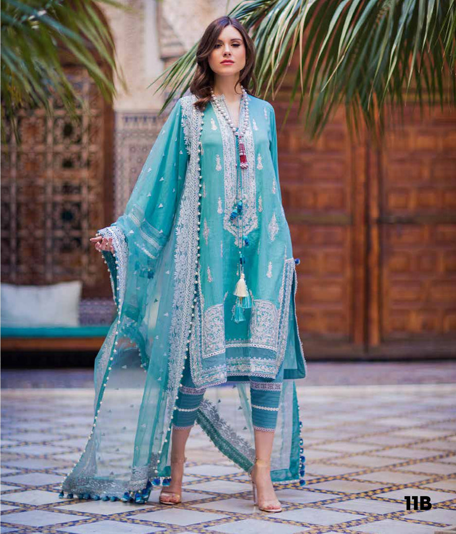 Sobia Nazir's Luxury Lawn Collection 2020 - 11B online Pakistani designer dress Anarkali Suits Party Werar Indian Dresses Pakistani Dresses