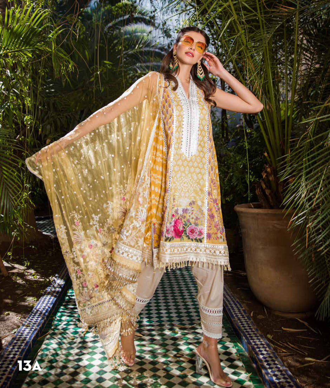 Sobia Nazir's Luxury Lawn Collection 2020 - 13A online Pakistani designer dress Anarkali Suits Party Werar Indian Dresses Pakistani Dresses