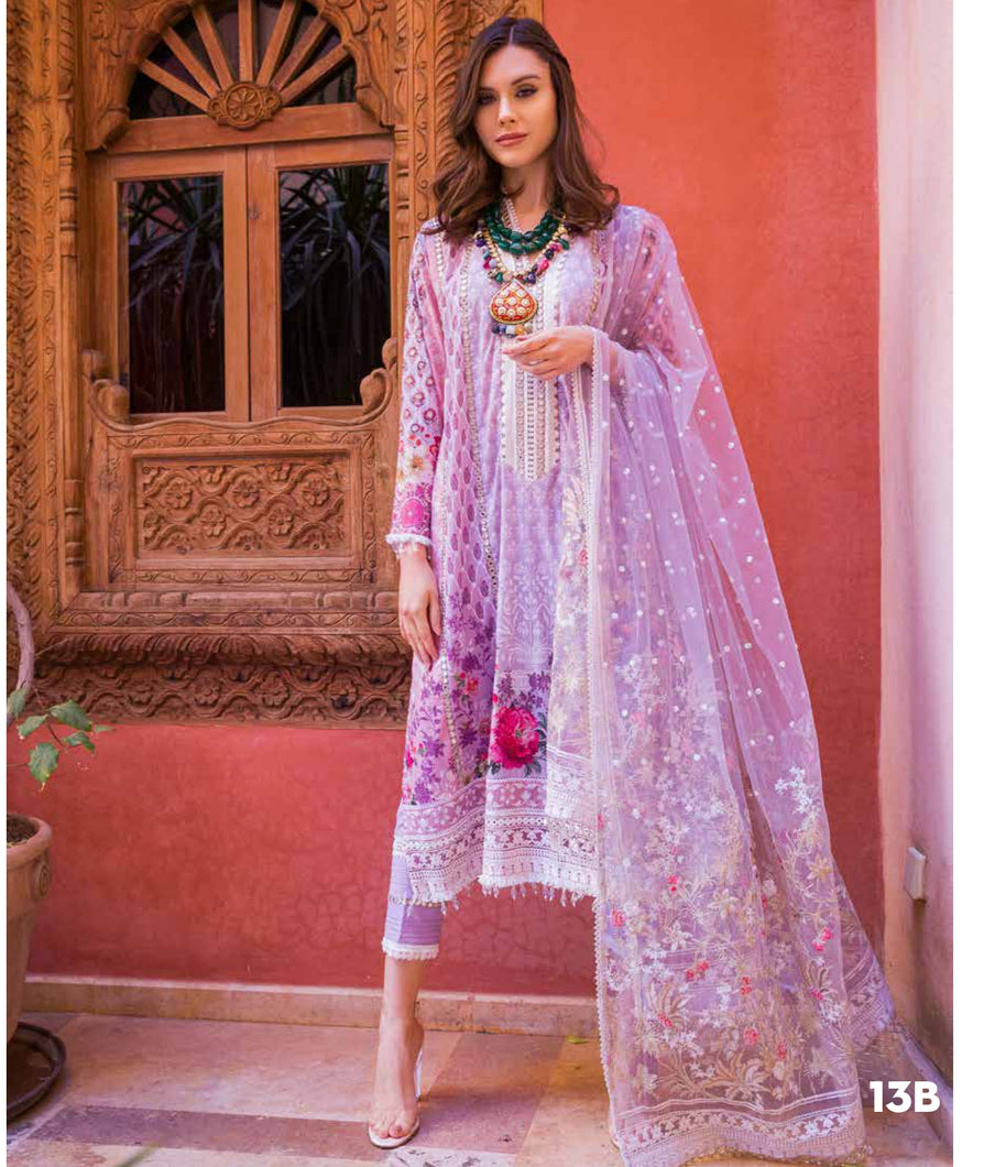 Sobia Nazir's Luxury Lawn Collection 2020 - 13B online Pakistani designer dress Anarkali Suits Party Werar Indian Dresses Pakistani Dresses