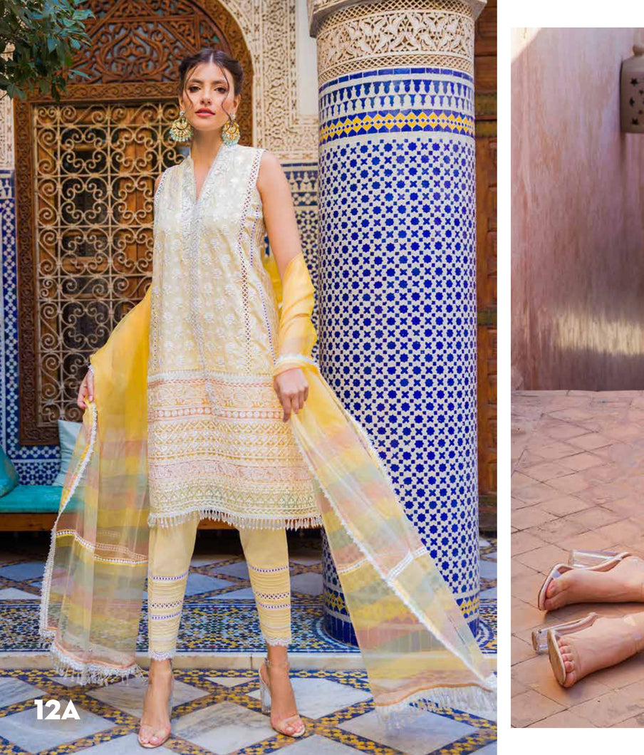 Sobia Nazir's Luxury Lawn Collection 2020 - 12A online Pakistani designer dress Anarkali Suits Party Werar Indian Dresses Pakistani Dresses