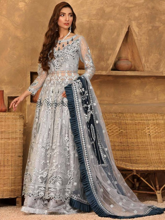 Buy Emaan Adeel | Virsa Luxury Chiffon Collection 2021 | VR 10 from Emaan Adeel's latest Bridal collection. We are stockists of Emaan Adeel Chiffon 2021 collection, Maria b dresses Various Pakistani designer brands are available exclusively on SALE! Buy Asian dresses UK from Lebaasonline in UK, Spain, Austria!