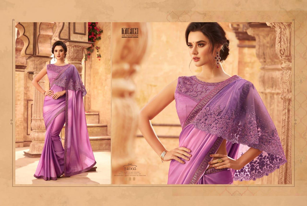 1B-2020-DESIGNER SAREE-Purple