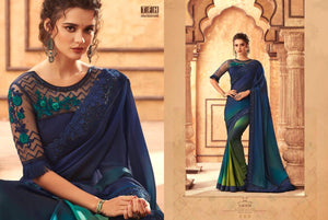 2B-2020-DESIGNER SAREE-Blue