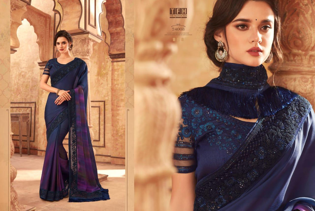 4B-2020-DESIGNER SAREE-Ultramarine Blue