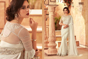 1A-2020-DESIGNER SAREE-White