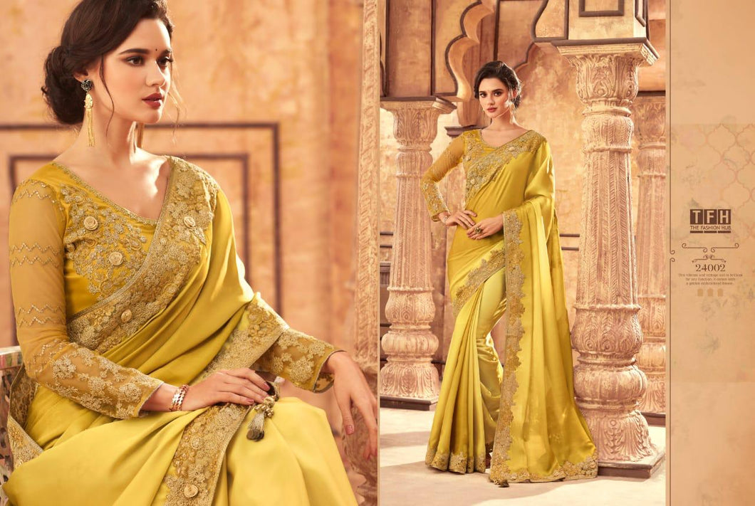 8B-2020-DESIGNER SAREE-Yellow