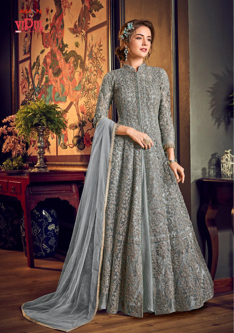 Vipul Julia Indian Gown 2020 - DNo:4554-C