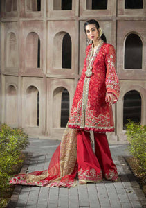 Alif By AJR Couture | Embroidered Luxury Suit | AJR20A-04-Rosewood