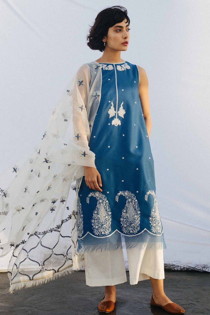 Buy COCO BY ZARA SHAHJAHAN LAWN 2021 | Z21-01B Blue Lawn 100% PAKISTANI DESIGNER DRESSES at Lebaasonline. New summer lawn Eid collection of Zara Shahjahan 2021, PAKISTANI CLOTHING, Asim Jofa Party Suits, PAKISTANI BOUTIQUE are exclusively available online! Stitched & Readymade Eid dress in the UK France & New Zealand