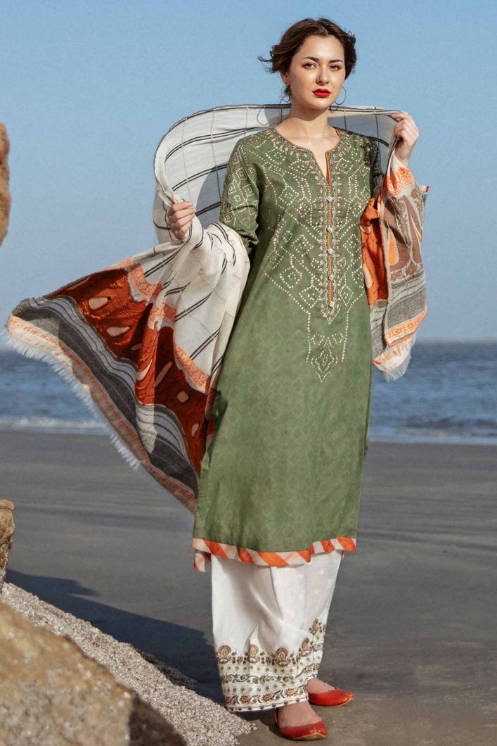 Buy COCO BY ZARA SHAHJAHAN LAWN 2021 | Z21-04B Green Lawn 100% PAKISTANI DESIGNER DRESSES at Lebaasonline. New summer lawn Eid collection of Zara Shahjahan 2021, PAKISTANI CLOTHING, Asim Jofa Party Suits, PAKISTANI BOUTIQUE are exclusively available online! Stitched & Readymade Eid dress in the UK France & New Zealand