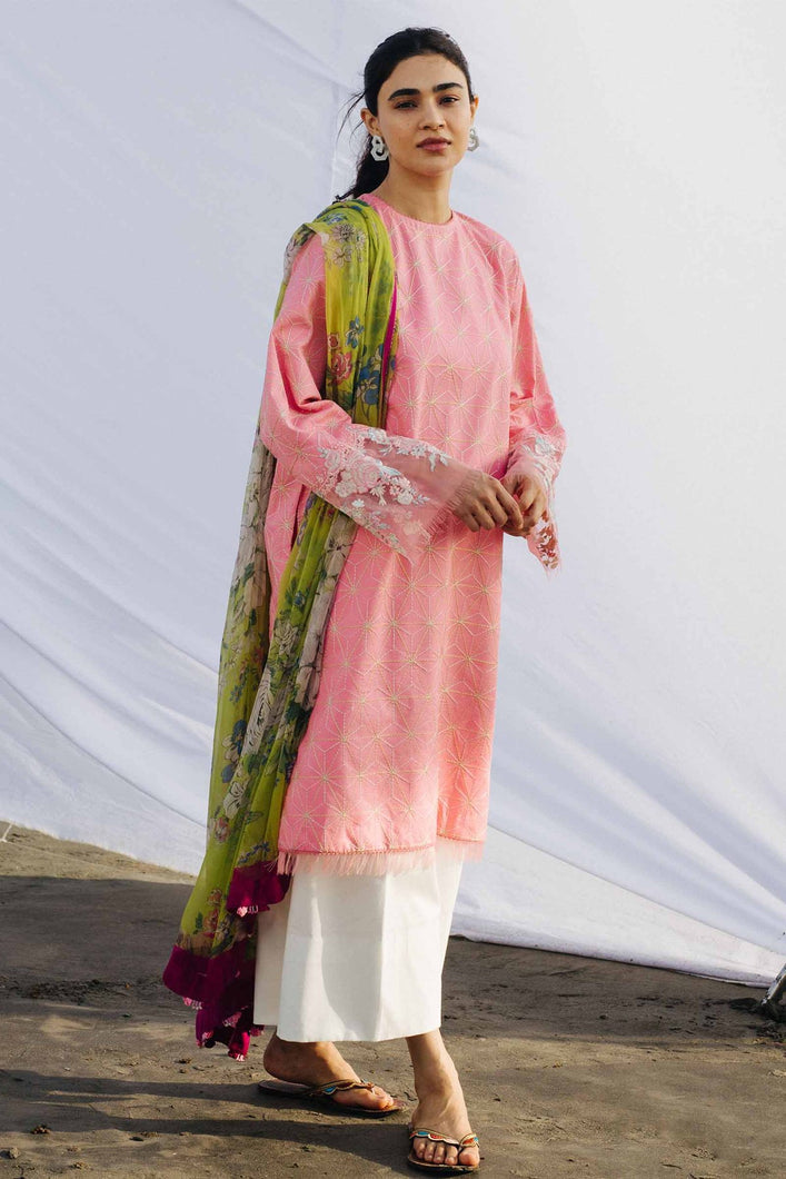 Buy COCO BY ZARA SHAHJAHAN LAWN 2021 | Z21-06B Pink Lawn 100% PAKISTANI DESIGNER DRESSES at Lebaasonline. New summer lawn Eid collection of Zara Shahjahan 2021, PAKISTANI CLOTHING, Asim Jofa Party Suits, PAKISTANI BOUTIQUE are exclusively available online! Stitched & Readymade Eid dress in the UK France & New Zealand