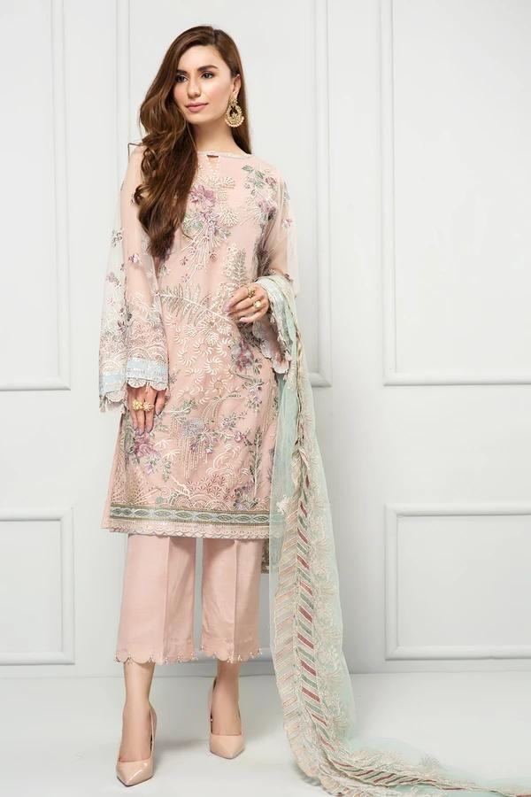 Buy Baroque Chiffon Collection 2021, Pink from Lebaasonline Pakistani Clothes Stockist in the UK @ best price- SALE ! Shop  Baroque, Noor LAWN 2021, Maria B Lawn 2021 Summer Suits, Pakistani Clothes Online UK for Wedding, Party & Bridal Wear. Indian & Pakistani Summer Dresses by  Baroque in the UK & USA at LebaasOnline