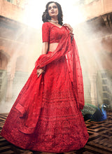Load image into Gallery viewer, Red Heavy Embroidered Lehenga