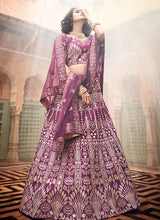 Load image into Gallery viewer, Wine Heavy Embroidered Lehenga
