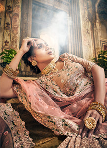 Rose Taupe Heavy Embroidered Lehenga