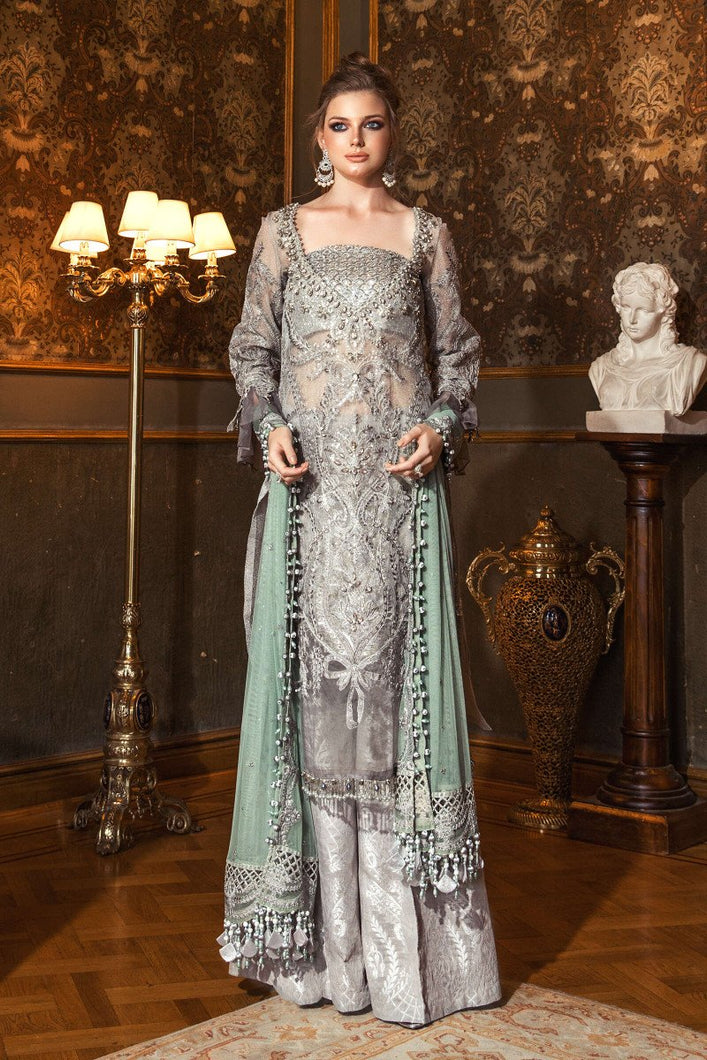MARIA B | Mbroidered Wedding Edition' 20 - D5 (Silver Grey)