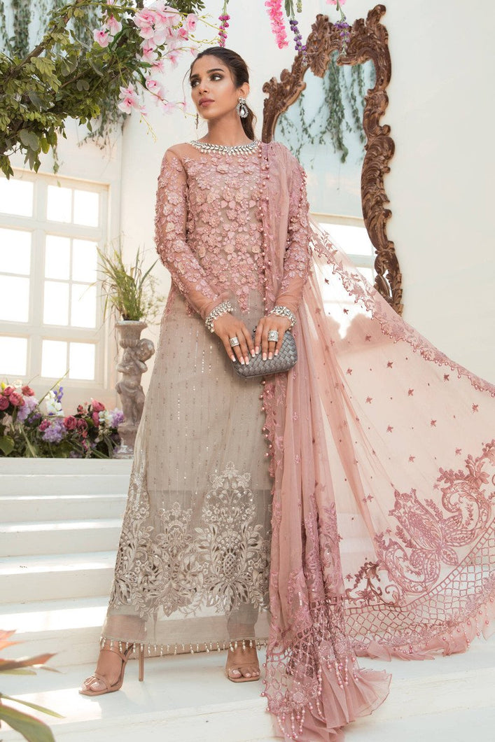 Buy Maria B Mbroidered Chiffon EID 2021 | BD-2101 Coffee and Ash Pink Chiffon Pakistani dresses from our official website We have all Pakistani designer clothes of dress pak Maria b UK Chiffon 2021 Sobia Nazir 2021 Various Pakistani outfits can be bought online from our website Lebaasonline in UK Birhamgam America