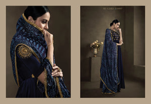 Blue - Mugdha Silky Indian Gown -DN11057