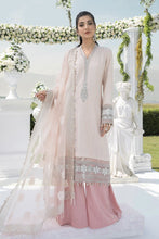 Load image into Gallery viewer, Buy MARIA B SATEEN Pink Pakistani Ready made, Stitched & unstitched 3 pc Suits Collection 2020 in the UK for Party & Wedding Festivities. Shop Now MARIA B SATEEN & Silk Off-White Indian Pakistani Dresses & Designer Wear for UK Asian Women Online at Best Price from LebaasOnline Boutique.