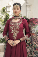 Load image into Gallery viewer, Buy MARIA B SATEEN Maroon Pakistani Ready made, Stitched & unstitched 3 pc Suits Collection 2020 in the UK for Party & Wedding Festivities. Shop Now MARIA B SATEEN & Silk Off-White Indian Pakistani Dresses & Designer Wear for UK Asian Women Online at Best Price from LebaasOnline Boutique