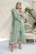 Load image into Gallery viewer, Buy MARIA B SATEEN Sea Green Pakistani Ready made, Stitched & unstitched 3 pc Suits Collection 2020 in the UK for Party & Wedding Festivities. Shop Now MARIA B SATEEN & Silk Off-White Indian Pakistani Dresses & Designer Wear for UK Asian Women Online at Best Price from LebaasOnline Boutique.