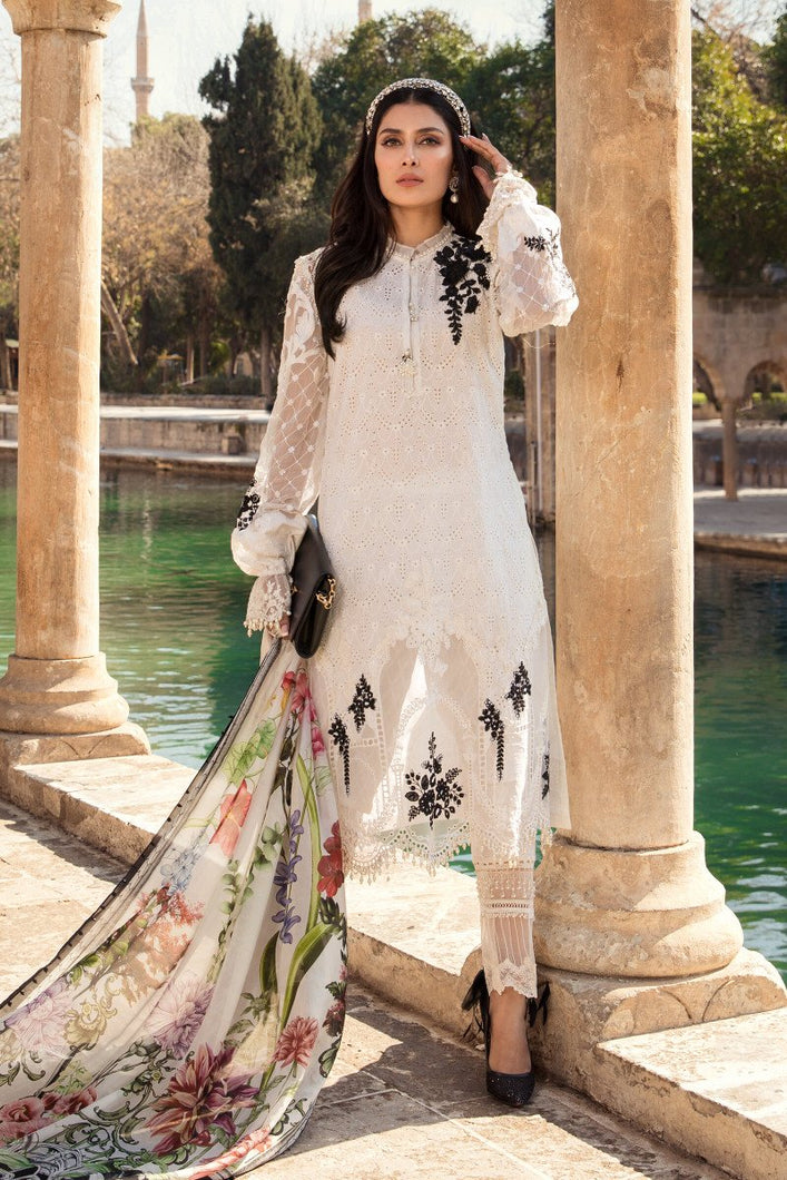 Shop the latest trends of Maria B Lawn 2020 Clothes ready to D-2101-A- Maria B Lawn 2020 ar 3 Piece Suits for the Spring/Summer. Available for customization at LebaasOnline. Maria B's latest lawn, MARIA B M PRINT UNSTITCHED COLLECTION and Pakistani Designer Clothes for Women. free shipping UK, USA, and worldwide