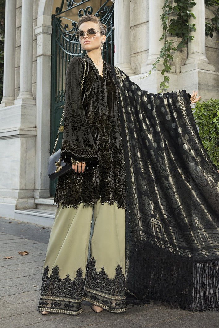 MARIA B | Linen Winter CollectionDL-806-Black and Beige. Buy Maria B Pakistani Dresses Online at Lebaasonline & Look good with our latest collection of Indian & Pakistani designer winter wedding clothes, Lawn, Linen, embroidered sateen & new fashion Asian wear in the UK. Shop PAKISTANI DESIGNER WEAR UK ONLINE 2020 SUITS.