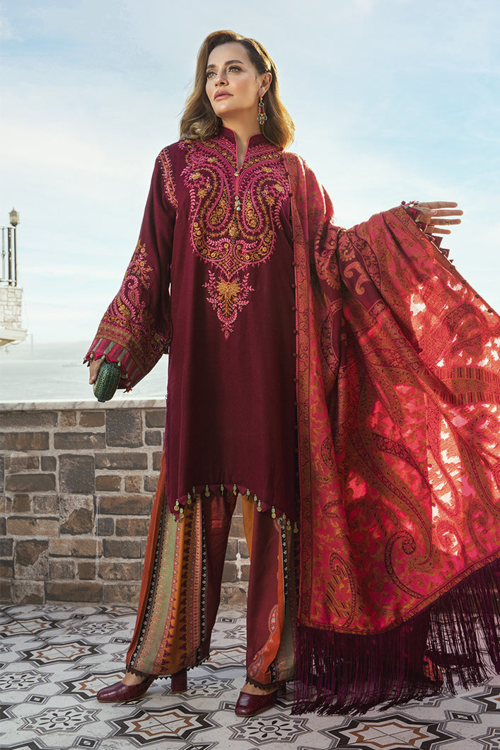 MARIA B | Linen Winter Collection DL-808-Deep Pink. Buy Maria B Pakistani Dresses Online at Lebaasonline & Look good with our latest collection of Indian & Pakistani designer winter wedding clothes, Lawn, Linen, embroidered sateen & new fashion Asian wear in the UK. Shop PAKISTANI DESIGNER WEAR UK ONLINE 2020 SUITS.