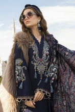 Load image into Gallery viewer, MARIA B | Linen Winter Collection DL-811-Navy Blue. Buy Maria B Pakistani Dresses Online at Lebaasonline & Look good with our latest collection of Indian & Pakistani designer winter wedding clothes, Lawn, Linen, embroidered sateen & new fashion Asian wear in the UK. Shop PAKISTANI DESIGNER WEAR UK ONLINE 2020 SUITS.