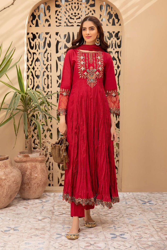 Buy Maria B Suit Maroon DW-EF21-21 Ready to Wear and Stitched. READY MADE MARIA B EID COLLECTION 2021 Rejoice this Eid ambiance with balance of dynamic hues with NEW Pakistani designer clothes 2021 from the top fashion designer such as MARIA. B online in UK & USA Express shipping to London Manchester & worldwide