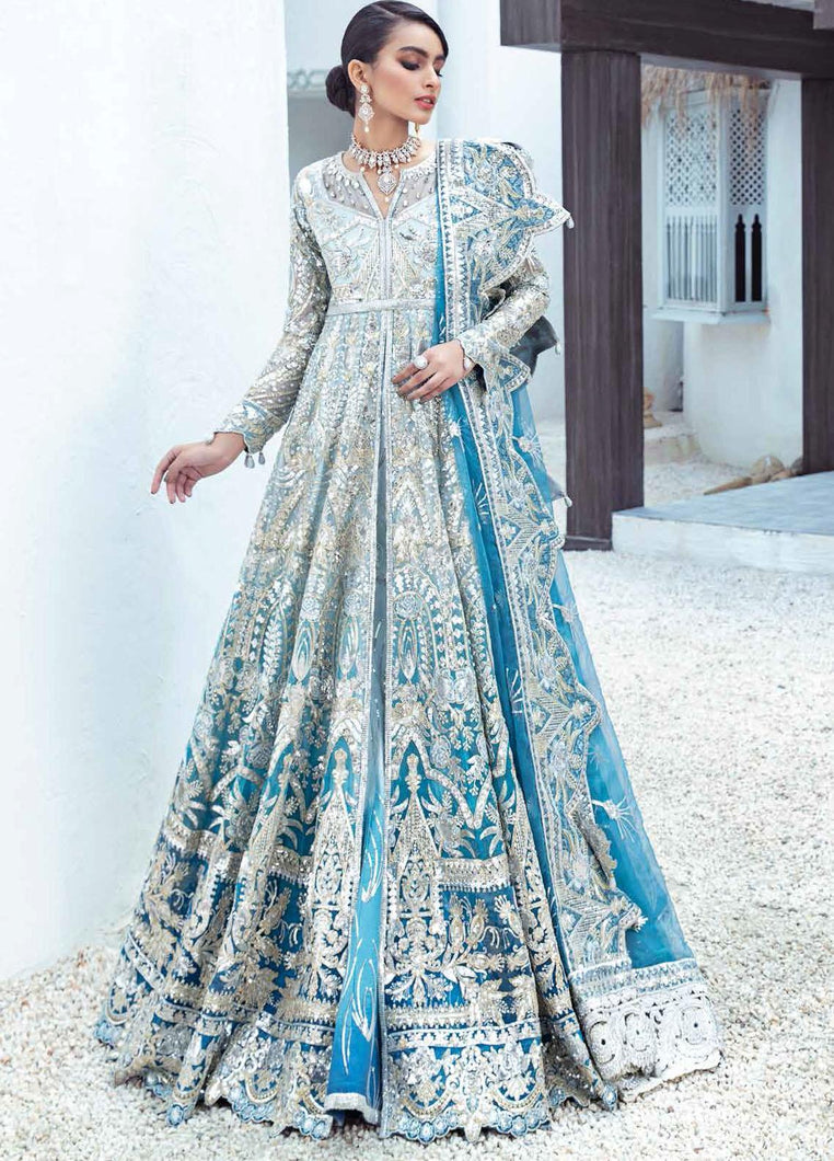 PAKISTANI BRIDAL OUTFITS by Maryum N Maria Freesia 2021, Blue Luxury Suits from Lebaasonline Pakistani Clothes in the UK @ best price- SALE ! Shop Maryum n Maria Brides 2021, Noor, Maria B Clothes Online UK for Wedding, Party & Bridal Wear. Indian & Pakistani Summer Dresses by Maryum N Maria in UK & USA @ LebaasOnline.