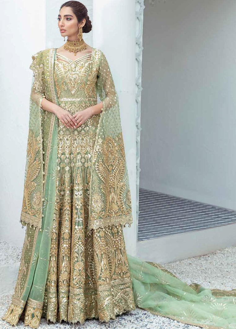 PAKISTANI BRIDAL OUTFITS by Maryum N Maria Freesia 2021, Green Luxury Suit from Lebaasonline Pakistani Clothes in the UK @ best price- SALE ! Shop Maryum n Maria Brides 2021, Noor, Maria B Clothes Online UK for Wedding, Party & Bridal Wear. Indian & Pakistani Summer Dresses by Maryum N Maria in UK & USA at LebaasOnline