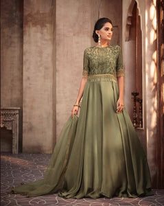 Green Indian Party Gown by Mohini Glamour - 75004