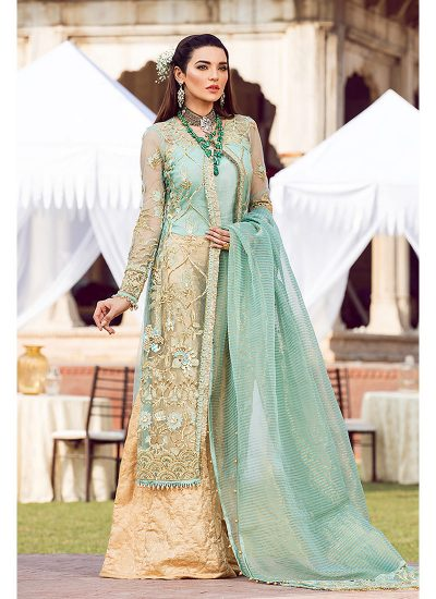 Gulaal Wedding Collection Golden - LebaasOnline