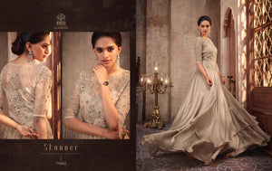 Grey Indian Party Gown by Mohini Glamour - 75002