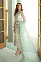 Load image into Gallery viewer, IMROZIA PREMIUM EMBROIDERY  I-133 Green Chiffon Eid outfit exclusively from us We are largest stockist of Imrozia Premium Chiffon collection Maria b and all other Pakistani designer clothes The fine embroidery and subtle color of the dress are great combinations for Eid outfits Buy from Lebaasonline in UK Spain Austria