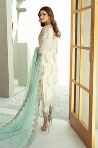 IMROZIA PREMIUM EMBROIDERY  I-133 Green Chiffon Eid outfit exclusively from us We are largest stockist of Imrozia Premium Chiffon collection Maria b and all other Pakistani designer clothes The fine embroidery and subtle color of the dress are great combinations for Eid outfits Buy from Lebaasonline in UK Spain Austria
