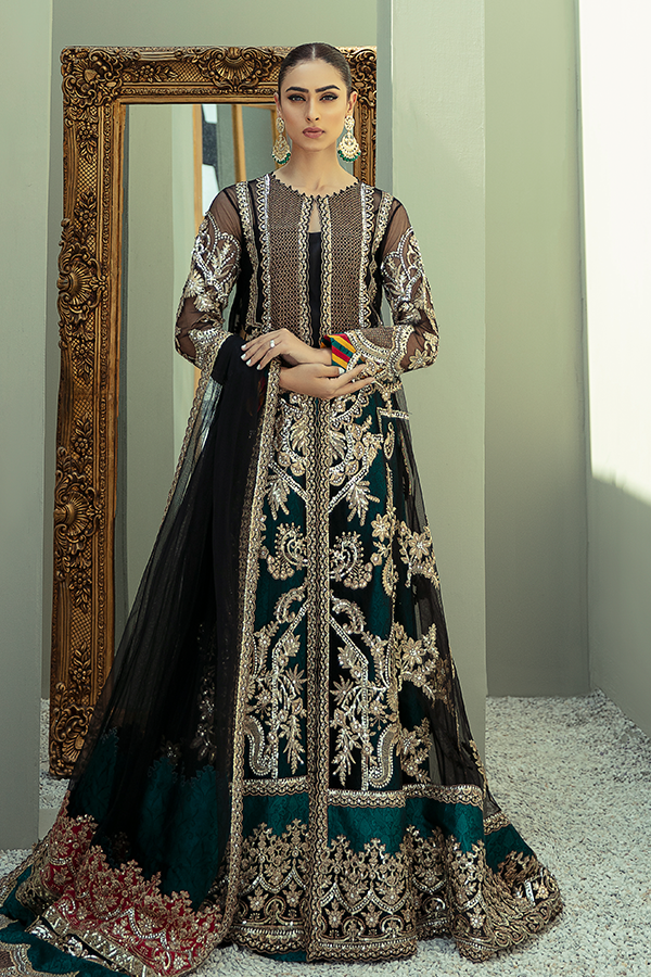 IMROZIA PREMIUM EMBROIDERY  I-134 Black Chiffon dress pak exclusively from us We are largest stockist of Imrozia Premium Chiffon collection Maria b and all other Pakistani designer clothes The fine embroidery and subtle color of the dress are great combinations for Eid dresses Buy from Lebaasonline in UK Spain Austria