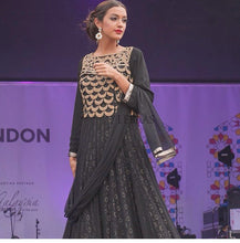 Load image into Gallery viewer, London fashion show anarkali party dress - LebaasOnline
