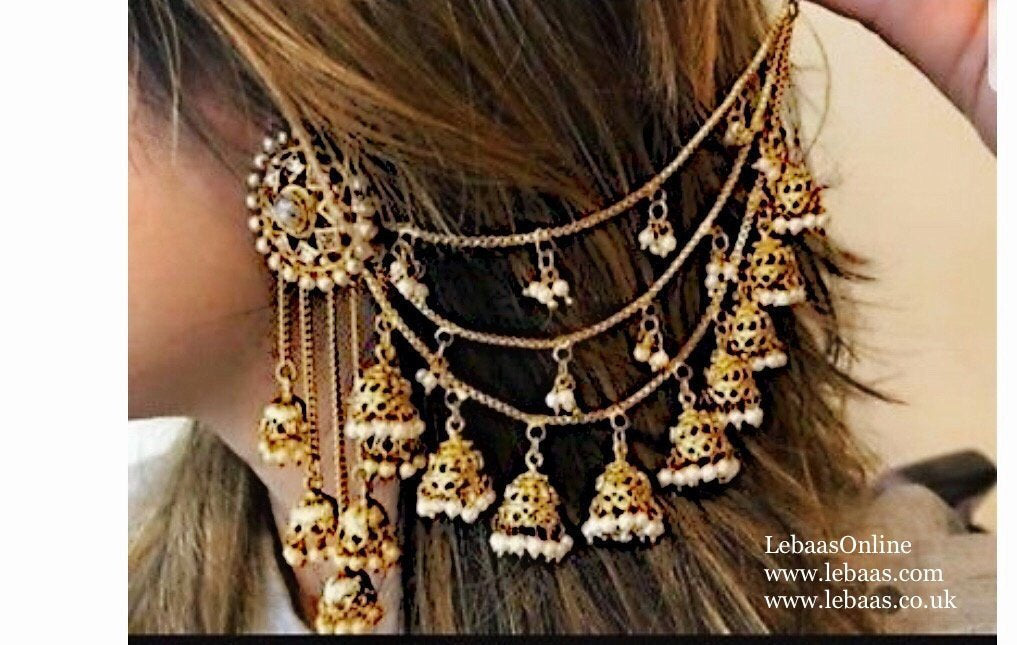 Bahubali Bollywood Earrings Indian Jewellery - LebaasOnline