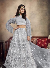 Load image into Gallery viewer, Silver Grey Designer Lehnga by Zoya Legacy - LebaasOnline
