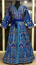 Load image into Gallery viewer, Silk Kaftan Dress in Admiral Blue - LebaasOnline