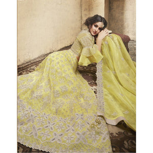Golden Yellow Indian Designer Lehnga by Zoya - LebaasOnline