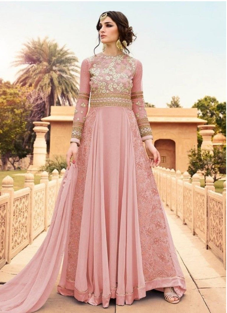 Top-notch embroidered glossy designer party and wedding dress - LebaasOnline