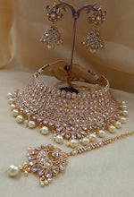 Load image into Gallery viewer, Indian Bridal Jewellery set by Amanii Crystal Collection - LebaasOnline