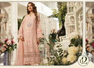 Pink lux MARIA B Eid 2019 Embroidered Suits Collection - LebaasOnline