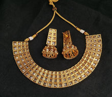 Load image into Gallery viewer, Panachee High  glazed necklace set with jhumka earnings - LebaasOnline
