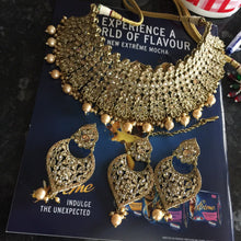 Load image into Gallery viewer, Bollywood fashion designer chocker set CRYSTALS & PEARLS - - LebaasOnline